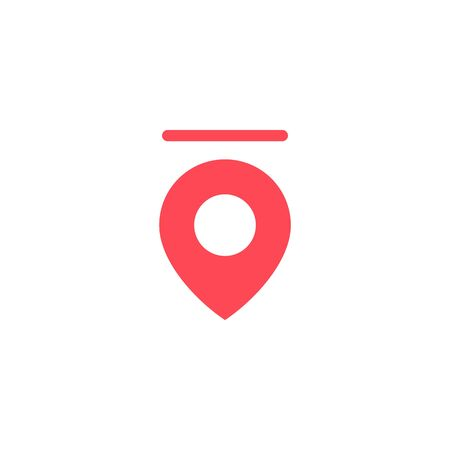 halo pin secure location logo vector icon illustration