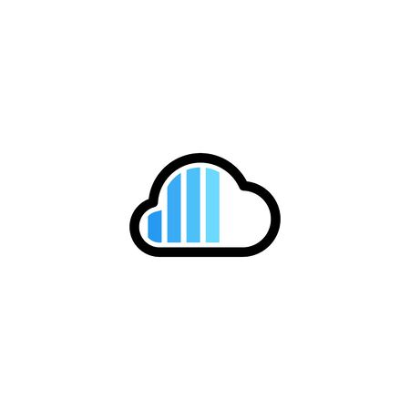 cloud charger charging indicator logo vector icon illustration