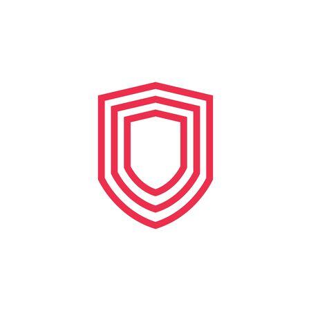 geometric shield logo vector icon illustration line outline monoline Banque d'images - 127371284