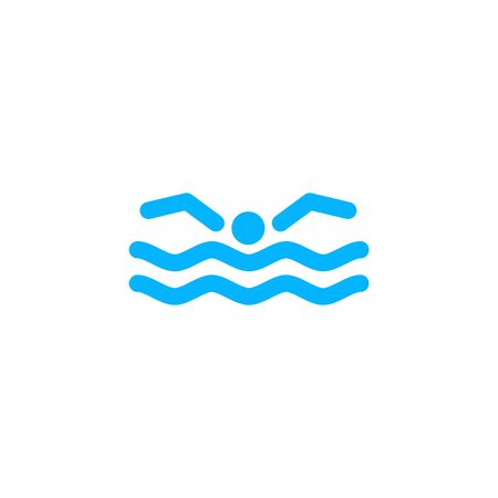 swimming logo icon vector illustration Banque d'images - 127374521