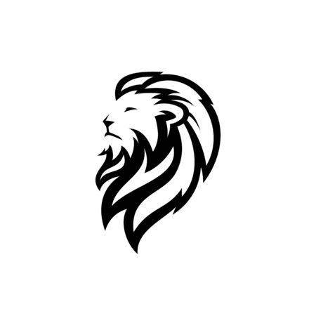 lion head logo vector icon download on white background Banque d'images - 127374534