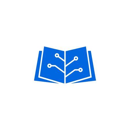 book tech electric circuit logo vector icon Banque d'images - 127913820