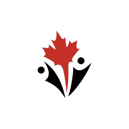 canada canadian people logo vector icon illustration Banque d'images - 127913826