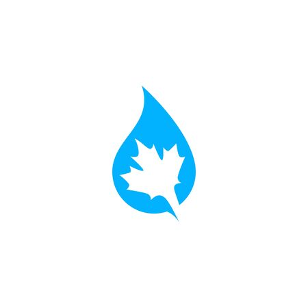 canada canadian pure water logo vector icon illustration Banque d'images - 127913827