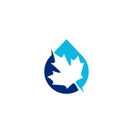 canada canadian pure water logo vector icon illustration Banque d'images - 127913828