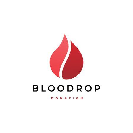 blood drop donation logo vector icon illustration Banque d'images - 127913832