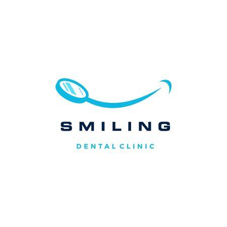 smile dental mirror logo vector icon illustration Banque d'images - 127913837