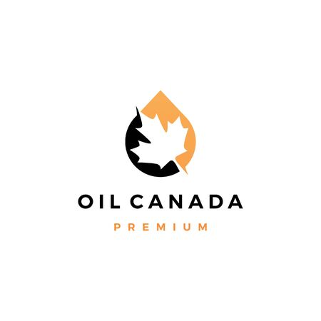 canada canadian maple leaf oil drop logo vector icon illustration Banque d'images - 128167536