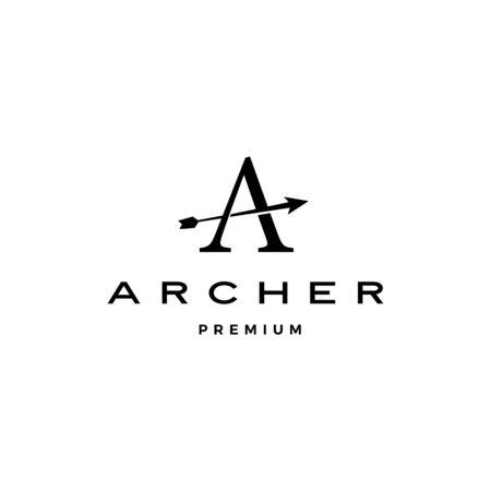 A letter archer arrow logo vector icon illustration Banque d'images - 130726726