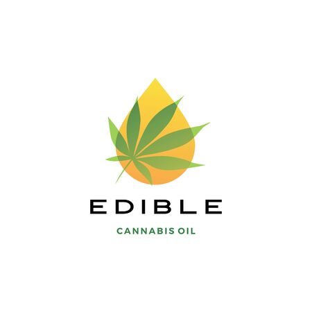cannabis oil logo vector icon illustration Banque d'images - 130726735