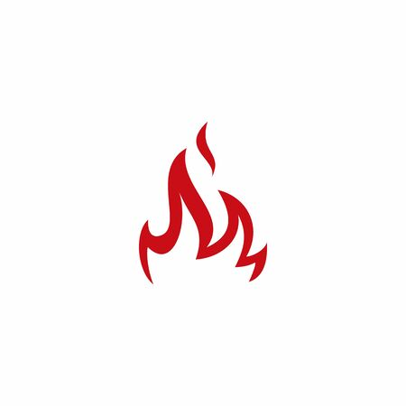 fire flame logo vector icon illustration Stock Illustratie