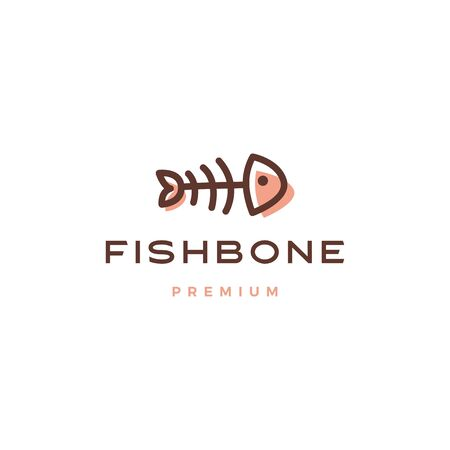 fish bone logo vector icon illustration Banque d'images - 131789524