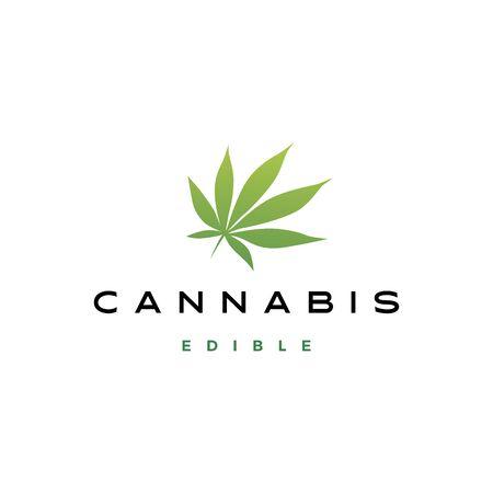 cannabis leaf logo vector icon illustration Stock Vector - 131789530