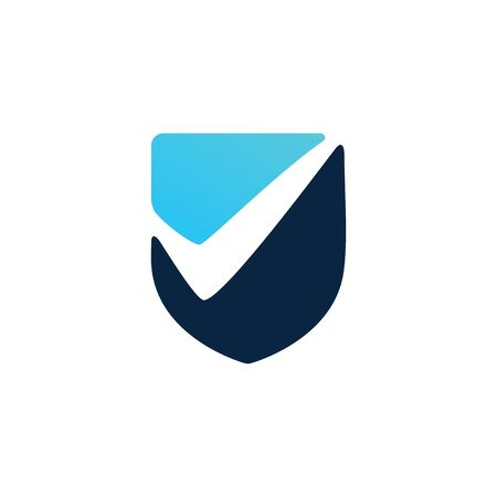 check shield logo vector icon illustration