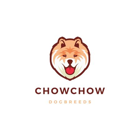 chow chow dog logo vector icon illustration Banque d'images - 131789547