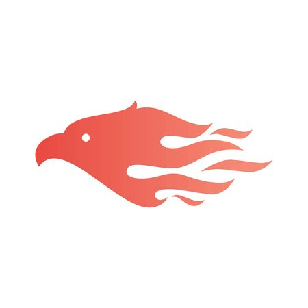 eagle fire bird logo vector icon illustration Banque d'images - 131789548