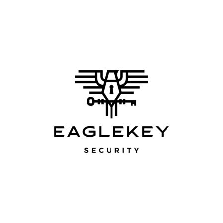 eagle key bird logo vector icon illustration Banque d'images - 131789550