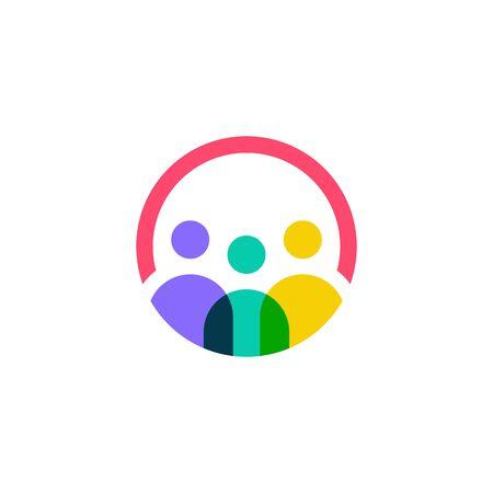 people logo vector icon illustration Illustration