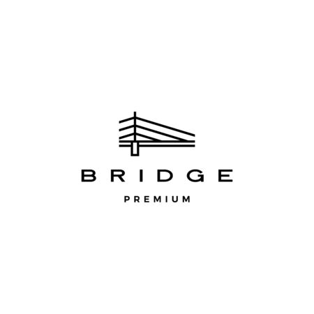 bridge logo vector icon illustration line outline monoline Ilustracja