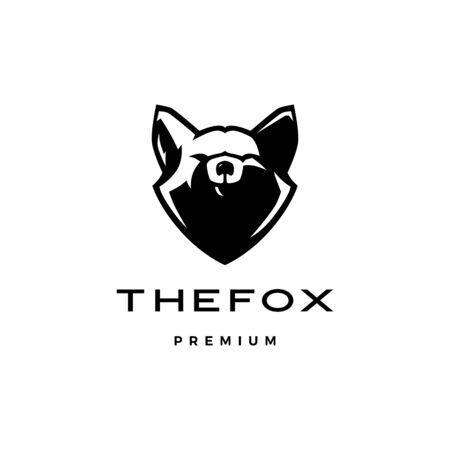 fox head logo vector icon illustration Illustration