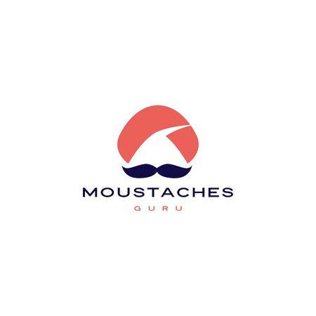 guru moustache mustache vector icon illustration