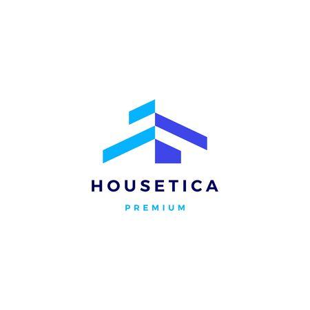 house home mortgage roof architect logo vector icon illustration Illustration
