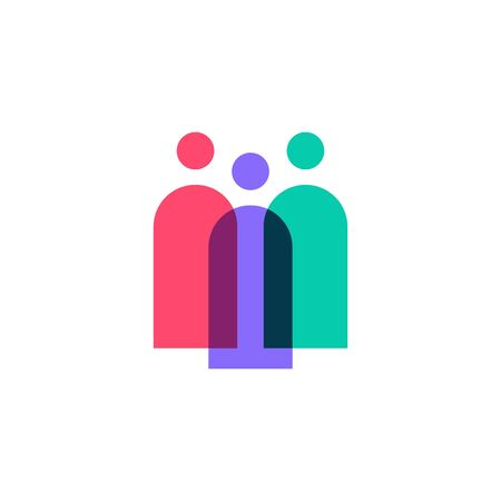 family people logo vector icon illustration