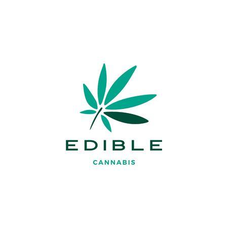 cannabis leaf logo vector icon illustration