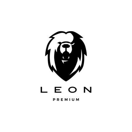 roaring lion head logo vector icon illustration Ilustração