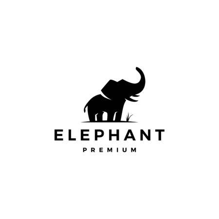 elephant logo vector icon illustration Illustration