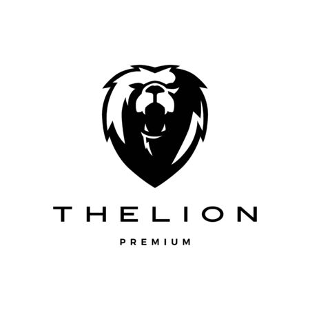 roaring lion head logo vector icon illustration 일러스트