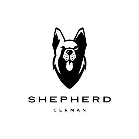 german shepherd head dog logo vector icon illustration