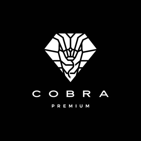 cobra logo vector icon illustration in diamond shape Çizim