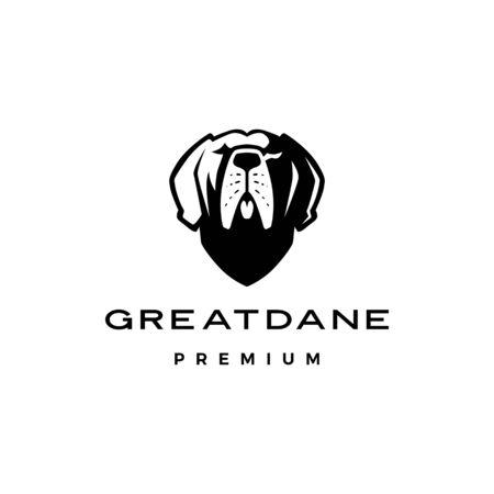 great dane dog logo vector icon illustration Logo