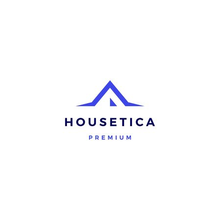 house home mortgage roof architect logo vector icon illustration Ilustração