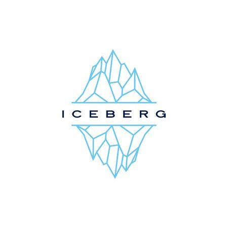 iceberg logo geometric line outline monoline illustration Illusztráció