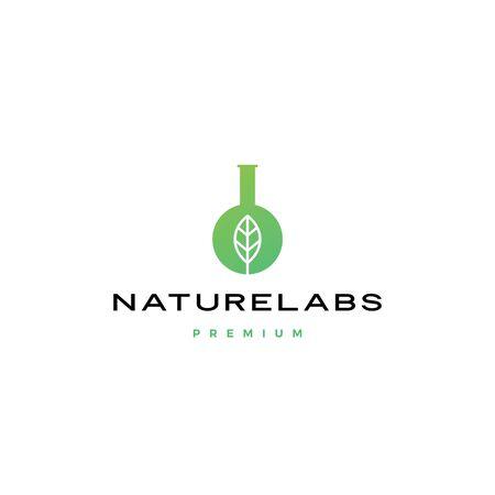 leaf nature lab naturelabs logo vector icon illustration