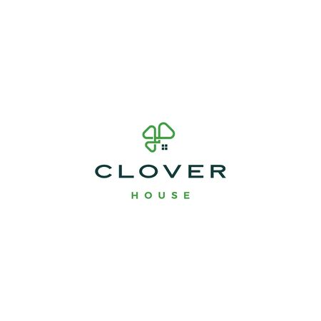 clover house home leaf three logo vector download Ilustração
