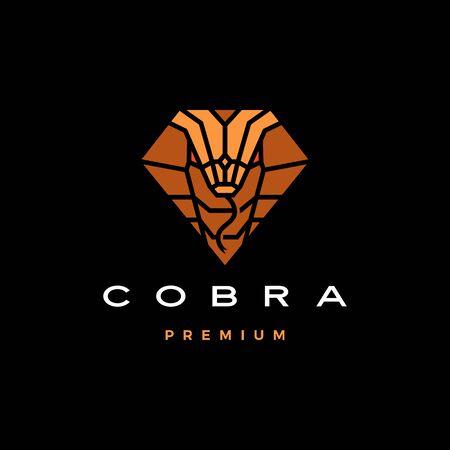 cobra logo vector icon illustration in diamond shape Archivio Fotografico - 134856333