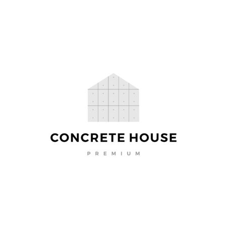 exposed concrete house logo vector icon illustration Ilustração