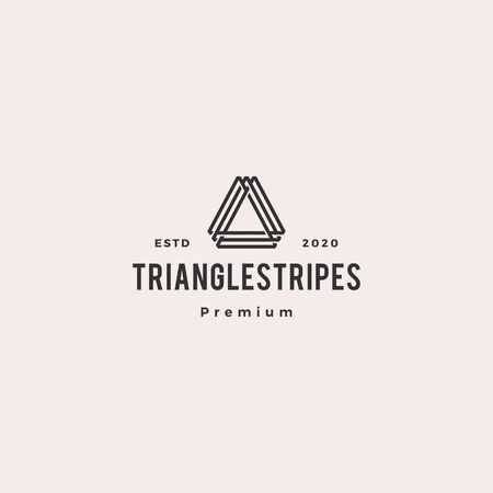 A letter triangle logo hipster vintage retro vector icon illustration
