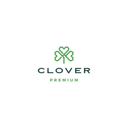 clover leaf logo vector icon illustration