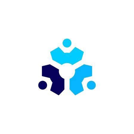 people gear cog cogs logo vector icon illustration