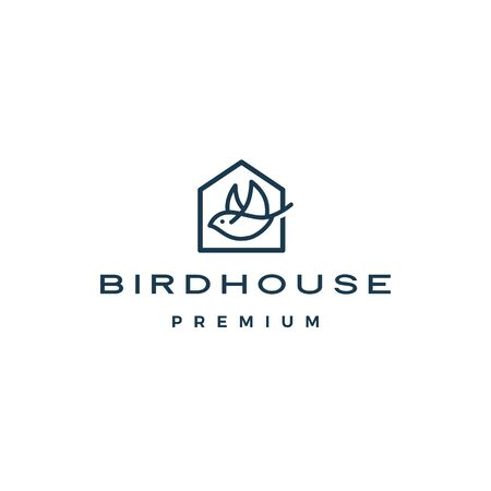 bird house logo vector icon illustration