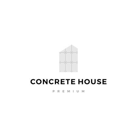 exposed concrete house logo vector icon illustration Ilustração