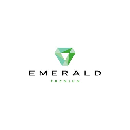 szmaragdowy diament logo wektor ikona ilustracja Logo