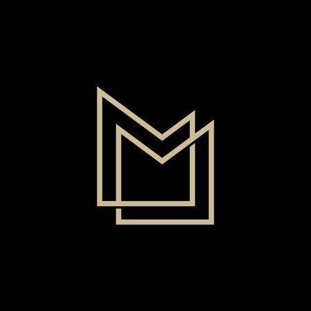 MM lettermark monogram logo vector