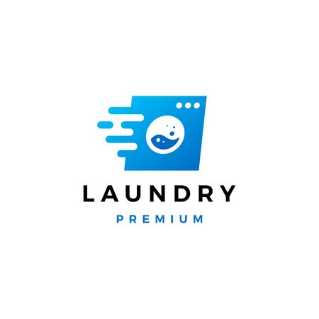quick fast laundry dash logo vector icon illustration Illustration