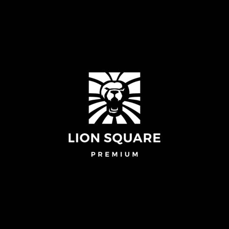 lion square logo vector icon illustration