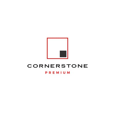 corner stone logo vector icon illustration